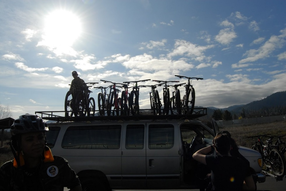 Ashland Mountain Adventures is the shuttle company in town, check out their schedule and rad demo bikes!