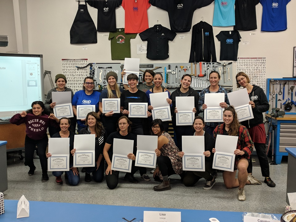 May we present, the QBP Bike Mechanic Scholarship Class of October 2018 !